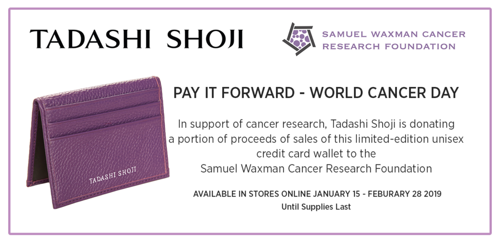 Tadashi Shoji card wallet to support cancer research.